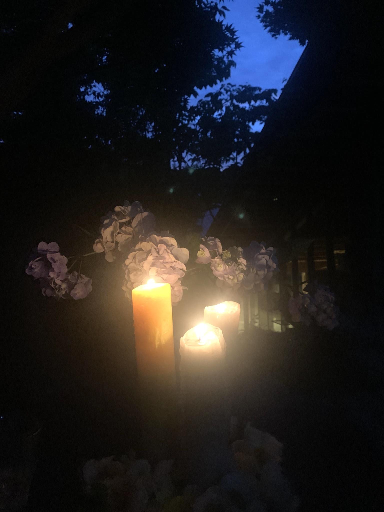20210621 夏至の日沙羅双樹のお花とキャンドルナイト_d0145345_20372947.jpeg