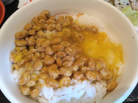 6/22 生蕎麦いろり庵きらく 納豆朝食セット¥430_b0042308_14364563.jpg