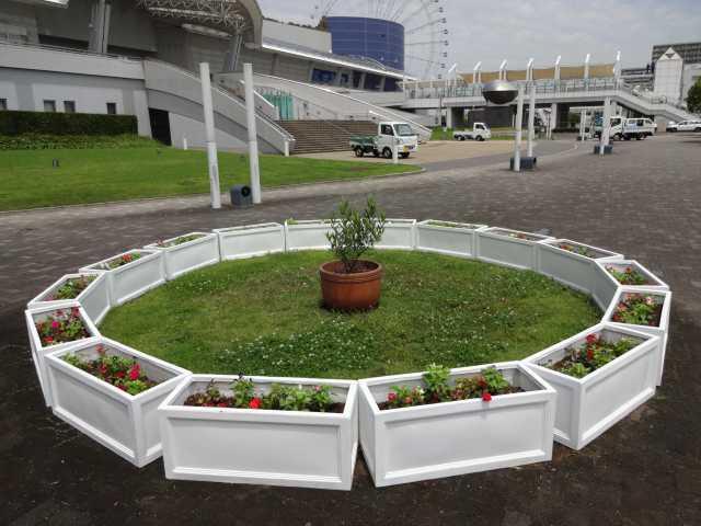 名古屋港水族館前のプランター花壇の管理をはじめました!_d0338682_08275854.jpg