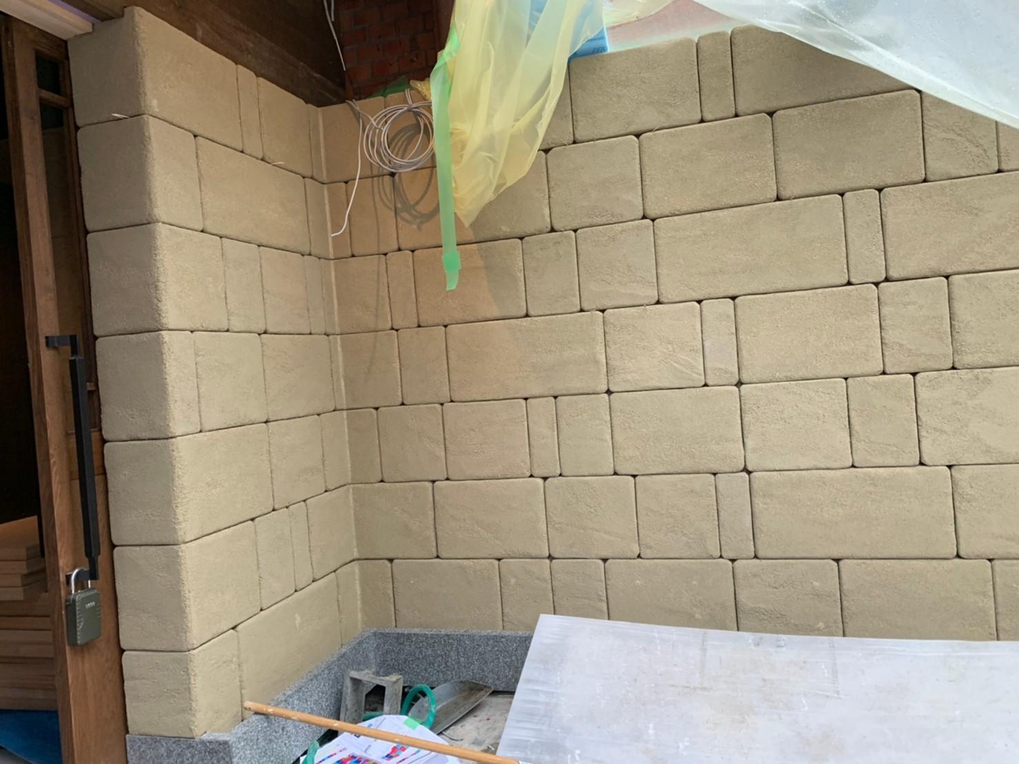 ブロック塀風仕上_b0048353_10205431.jpg