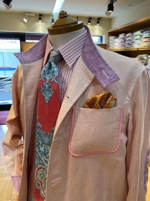 """""""ORLEANS"""" FOR SUMMER BY USING IRISH LINEN FROM """"EMBLEM"""", FABRIC MADE IN IRELAND 2_d0155468_13595976.jpeg"""