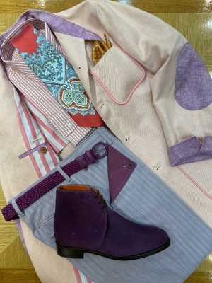 """""""ORLEANS"""" FOR SUMMER BY USING IRISH LINEN FROM """"EMBLEM"""", FABRIC MADE IN IRELAND 2_d0155468_14101612.jpeg"""