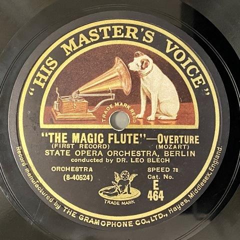 通販サイトにL.ブレッヒ指揮モーツァルト「魔笛」のSP盤をアップ_a0047010_16520600.jpg