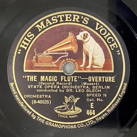 通販サイトにL.ブレッヒ指揮モーツァルト「魔笛」のSP盤をアップ_a0047010_16521738.jpg