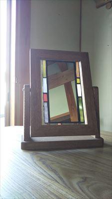 角度が変えれる鏡用の台_d0165772_21010084.jpg