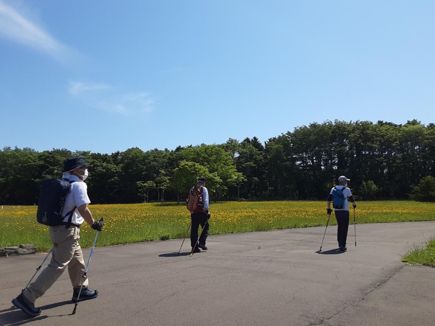 ノルディックウォーキングイベント2021 @野幌森林公園_d0198793_00234623.jpg