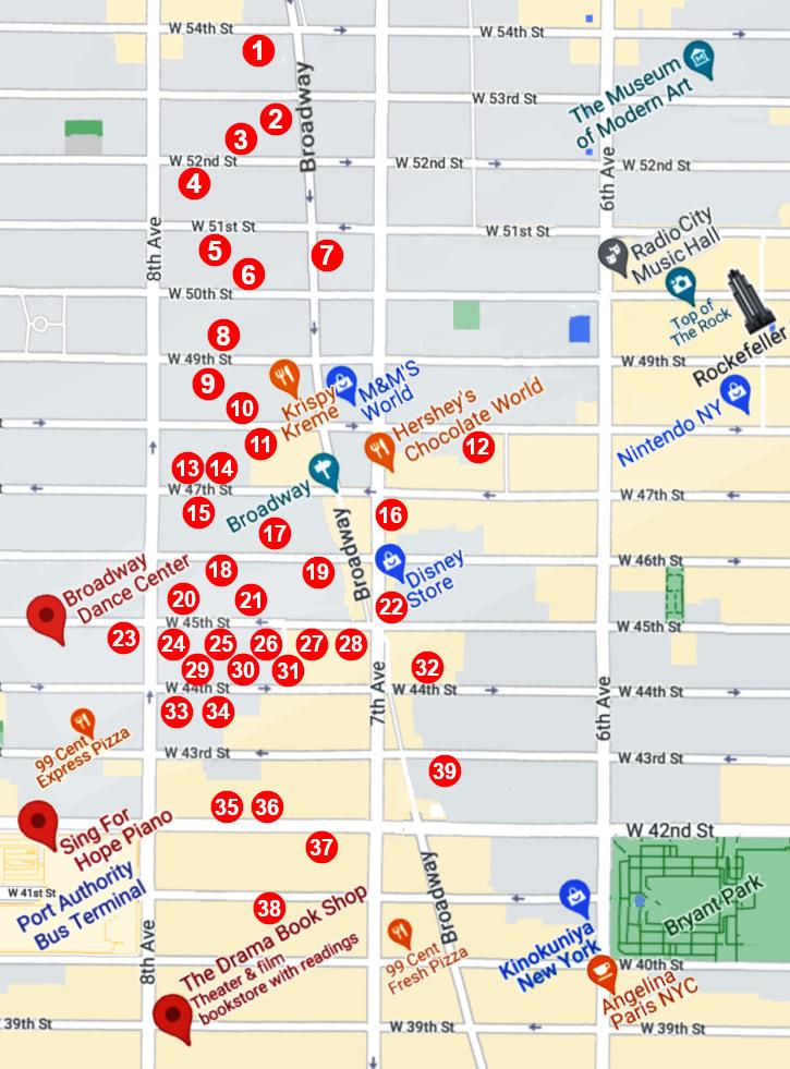 ブロードウェイ劇場マップ(Broadway Theaters map)_b0007805_02260565.jpg