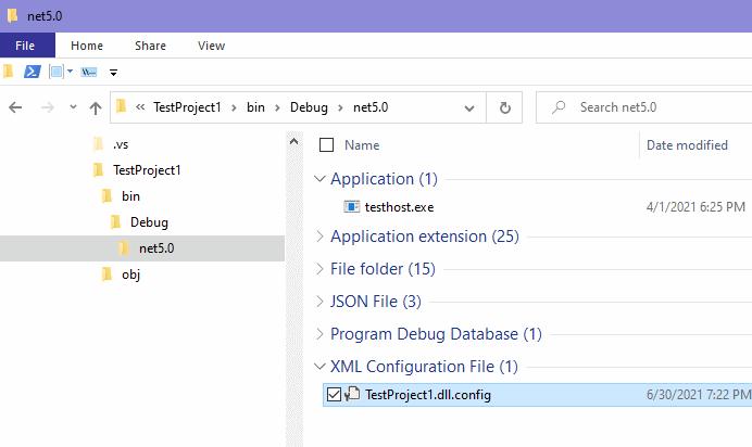 [解決] .NET 5.0 の xUnit 単体テストプロジェクトに app.config を配置しても読み取れない_d0079457_20232701.png