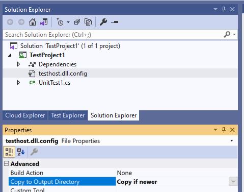 [解決] .NET 5.0 の xUnit 単体テストプロジェクトに app.config を配置しても読み取れない_d0079457_20381888.png