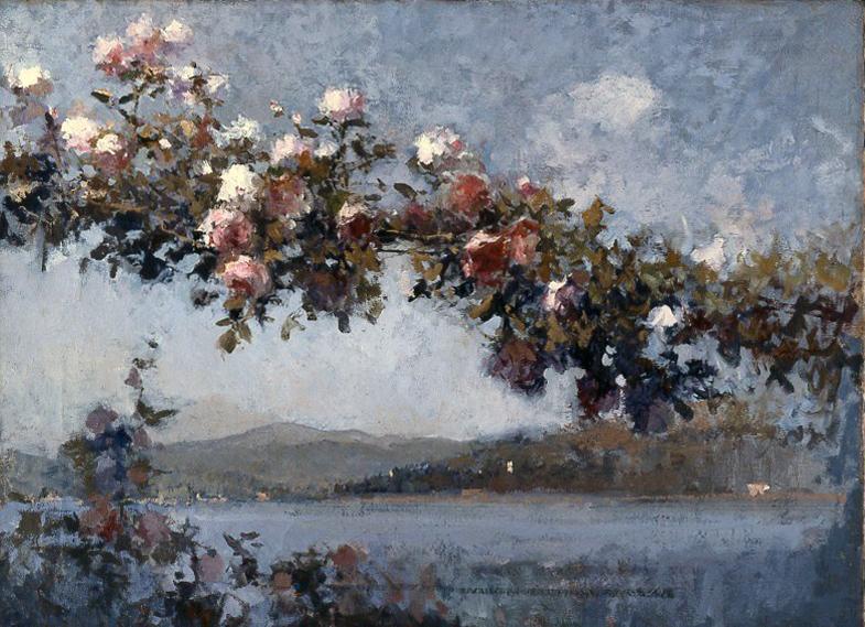 Giuseppe Mentessi:コモ湖の風景_c0084183_13332617.jpg