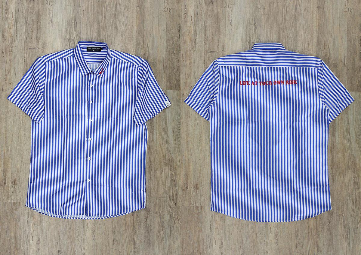 ストライプ半袖シャツ・ツギハギスウェットハーフパンツ 発売!_e0293755_16025498.jpg
