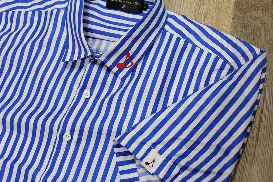 ストライプ半袖シャツ・ツギハギスウェットハーフパンツ 発売!_e0293755_16030098.jpg