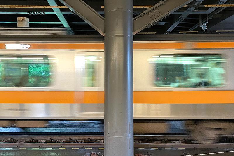 飯田橋駅プラットホームにて 2021年7月2日_d0123571_22144297.jpg