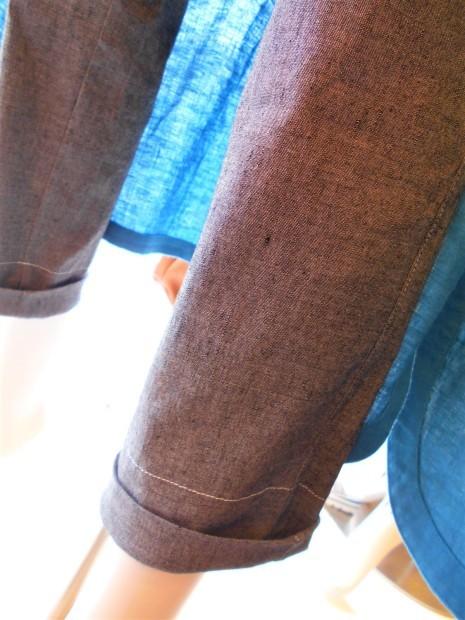 ターコイズブルーのシャツワンピ・・・・☆_c0113499_13041373.jpg