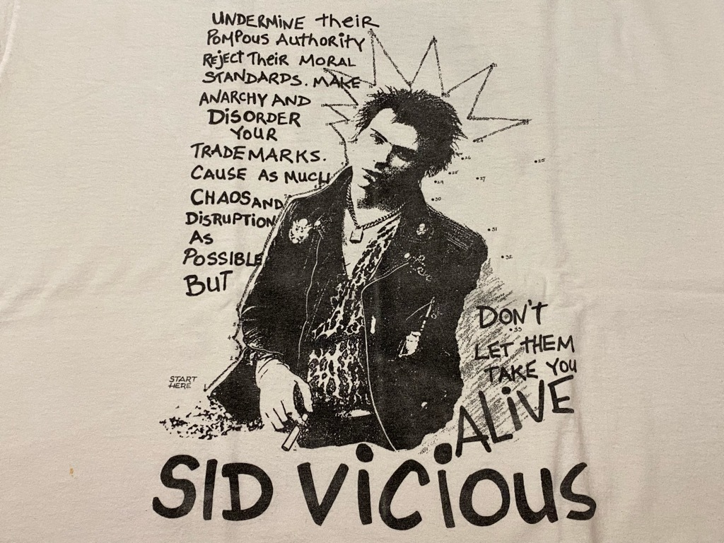 7月10日(土)大阪店スーペリア&ヴィンT入荷日‼ #6 1980s~USA Old T-Shirt編!!SID VICIOUS !!_c0078587_23082509.jpg