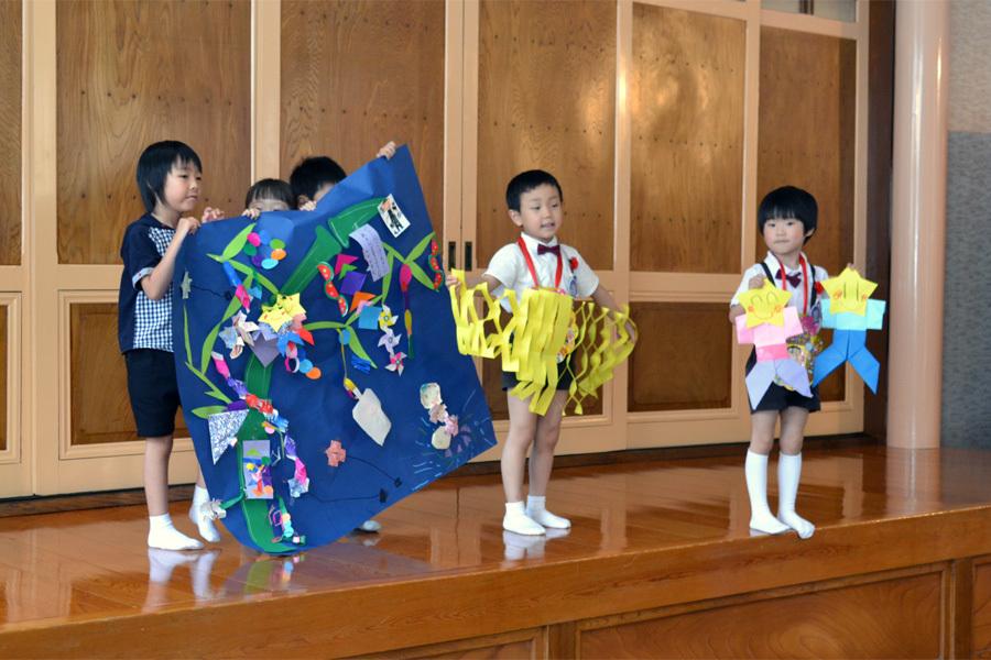 今日は第一幼稚園の「お誕生会」でした。_d0353789_14073184.jpg