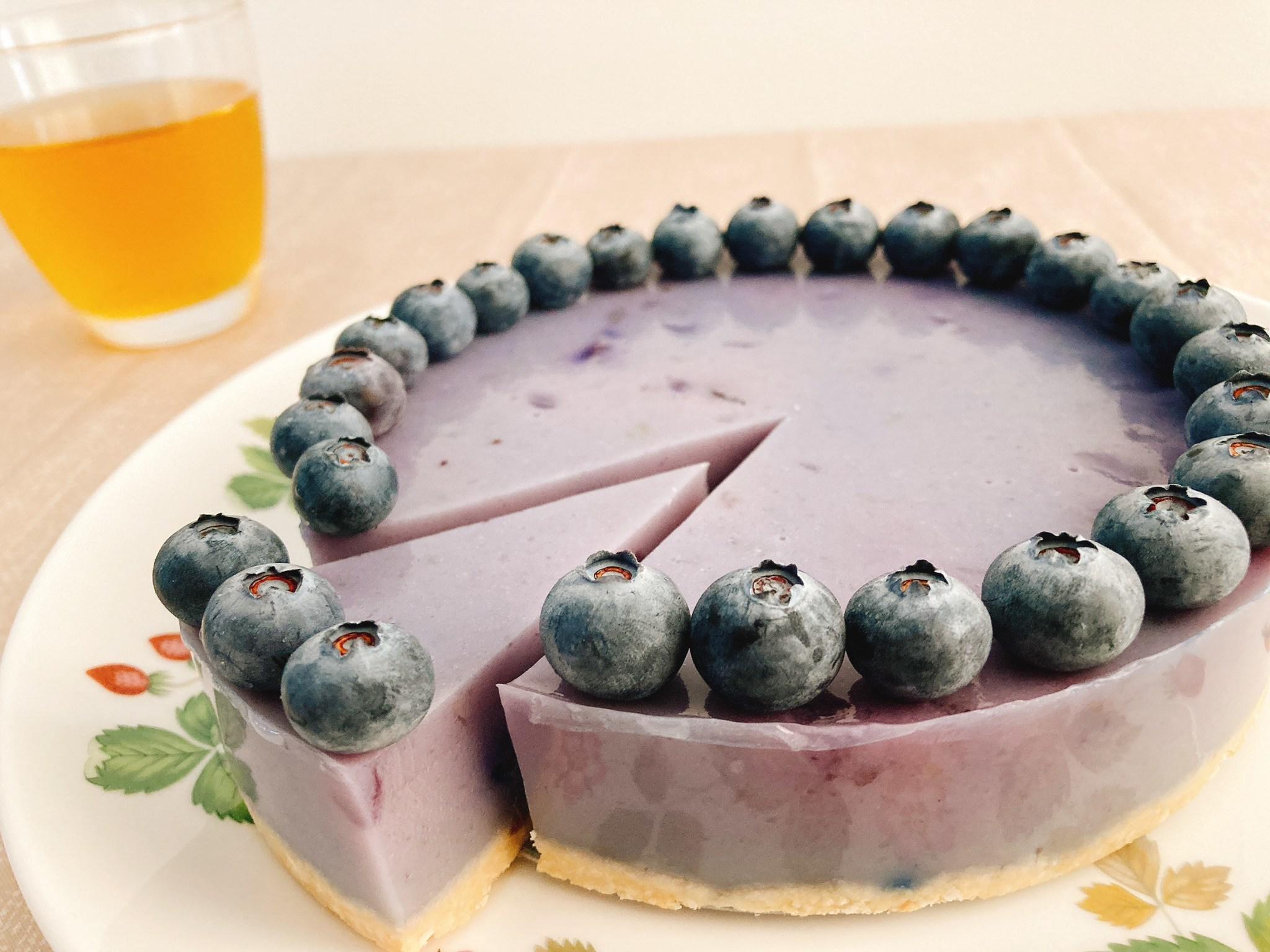 甘酸っぱい初夏の味を先取り!ヴィーガンブルーベリーケーキの作り方_c0405952_08571993.jpg