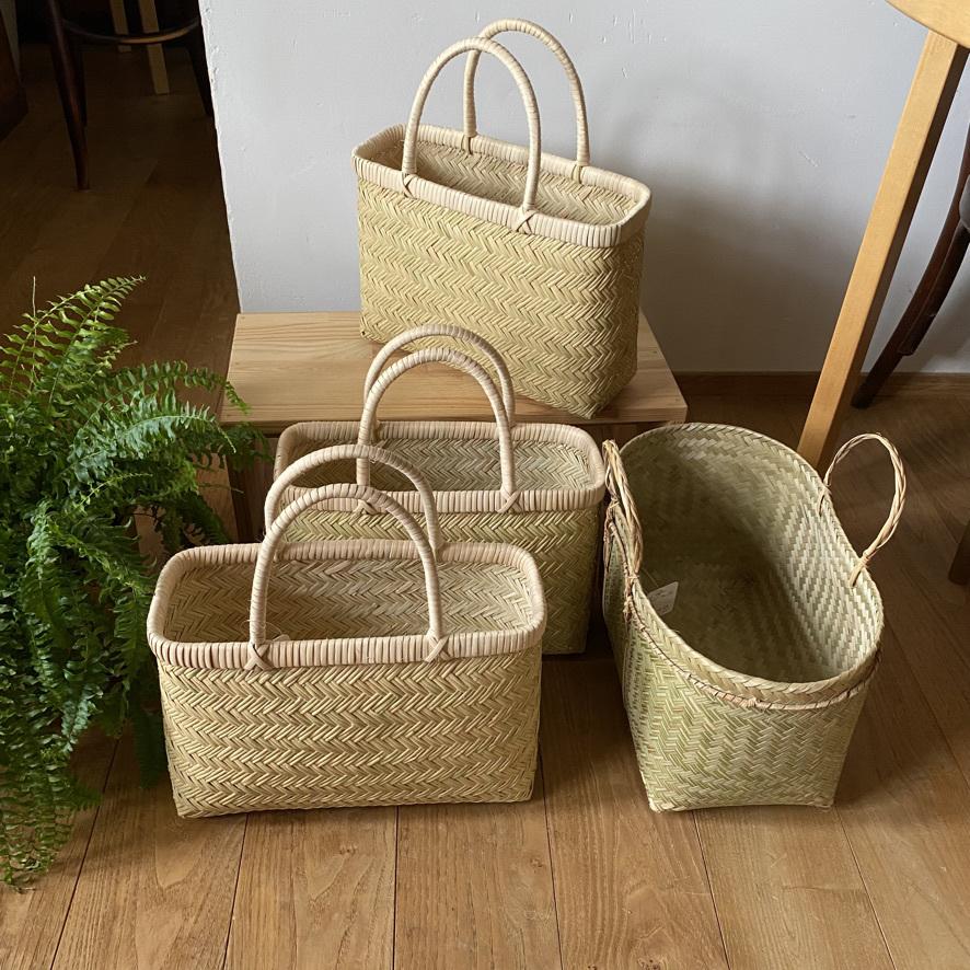 篠竹の買い物かごとラオスのかご_c0334574_19471056.jpeg