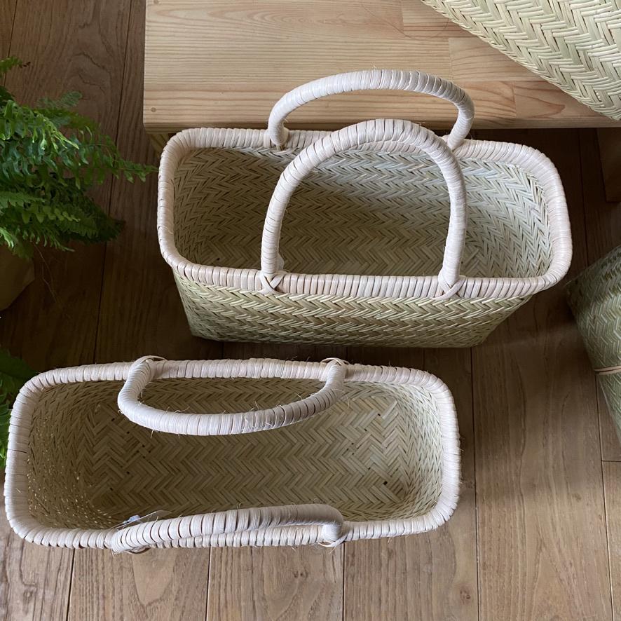 篠竹の買い物かごとラオスのかご_c0334574_19473895.jpeg