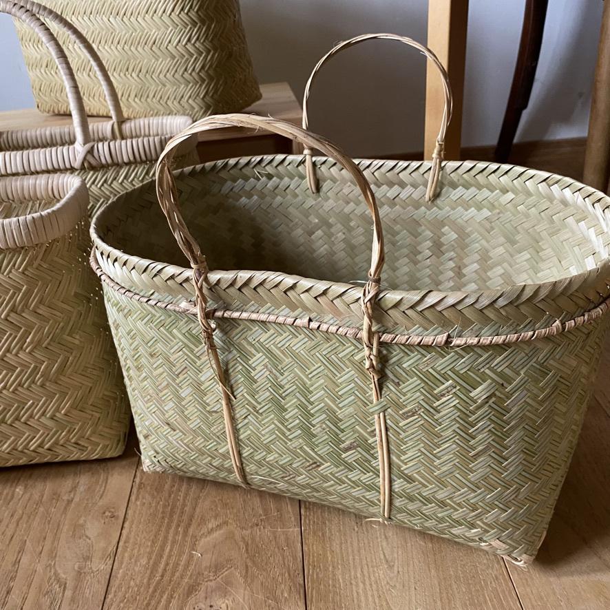 篠竹の買い物かごとラオスのかご_c0334574_19484546.jpeg