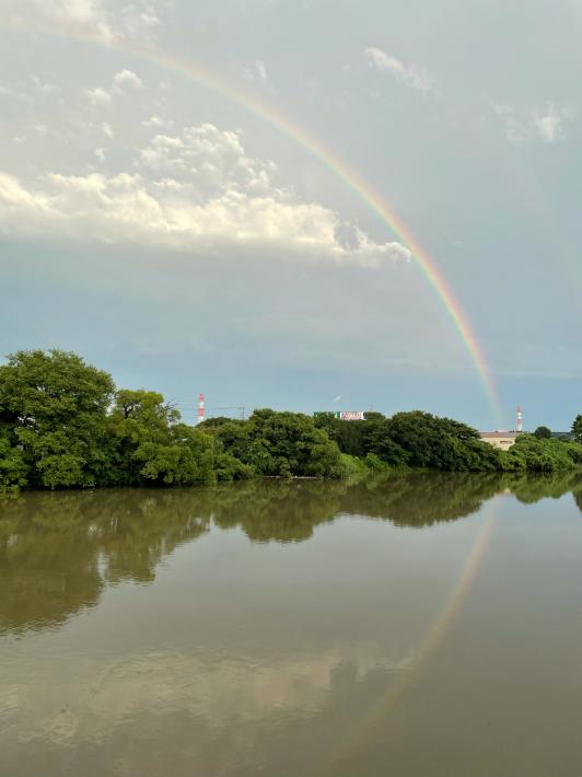 大きな虹が!_f0296312_20441513.jpg