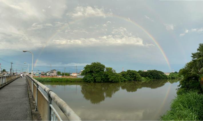 大きな虹が!_f0296312_20510205.jpg