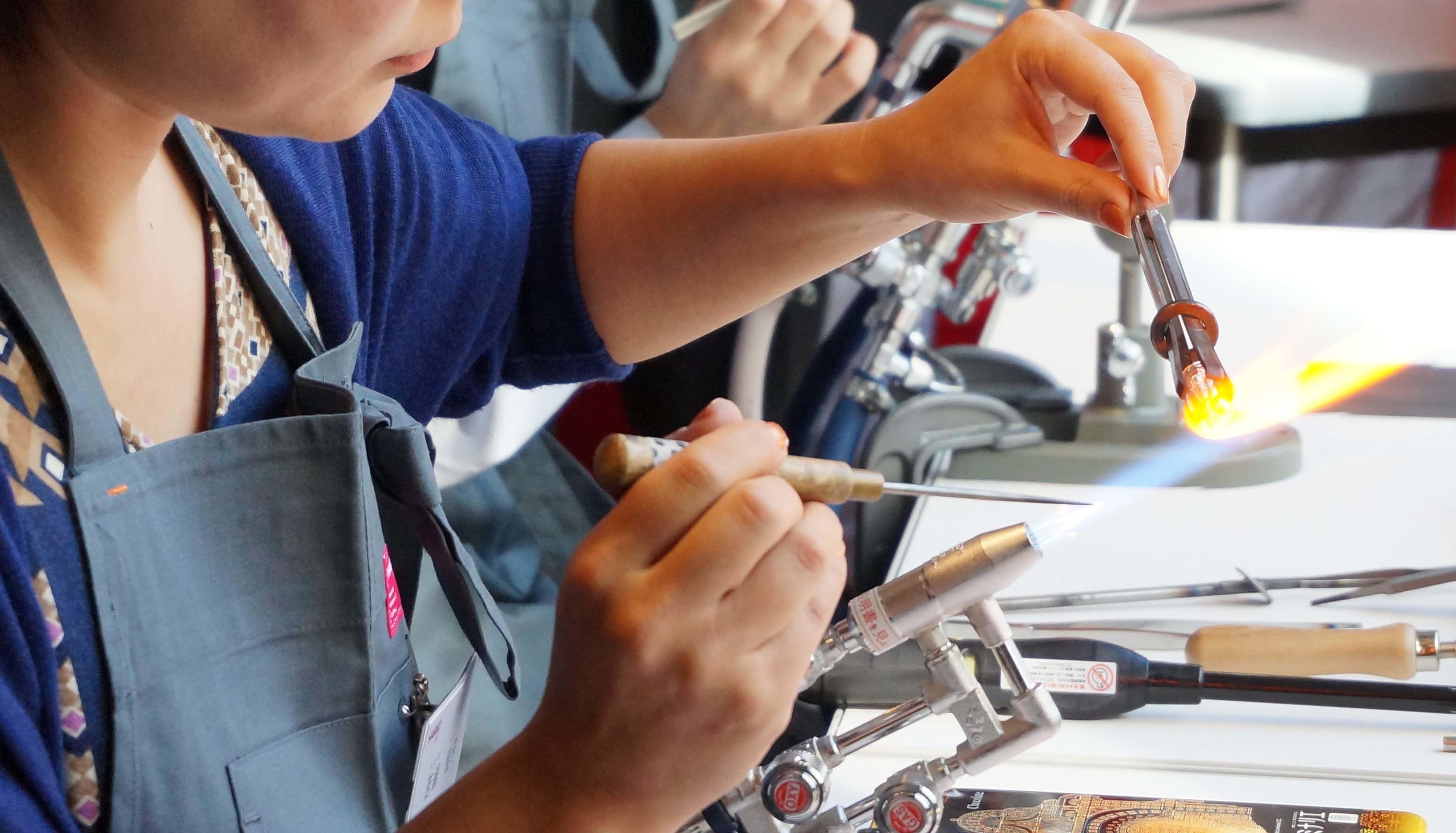 夏のHARIO Lampwork Factory ガラスのアクセサリーフェア開催_e0031142_17545185.jpg