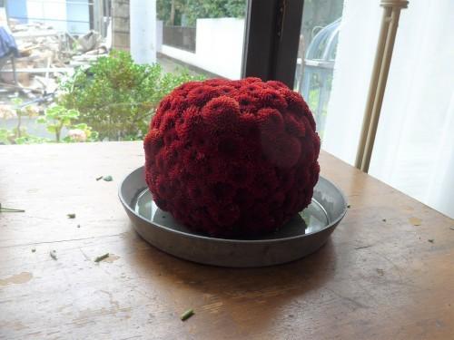 花修行~真っ赤なリンゴのアレンジメント~_f0232060_21135658.jpg