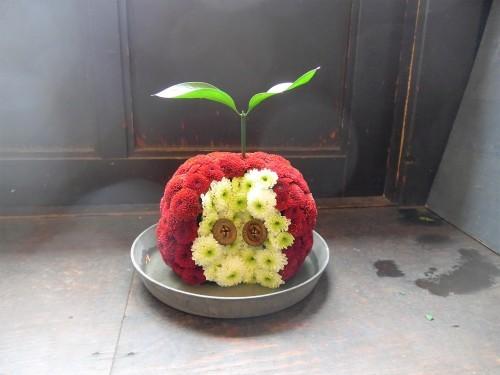 花修行~真っ赤なリンゴのアレンジメント~_f0232060_21140923.jpg