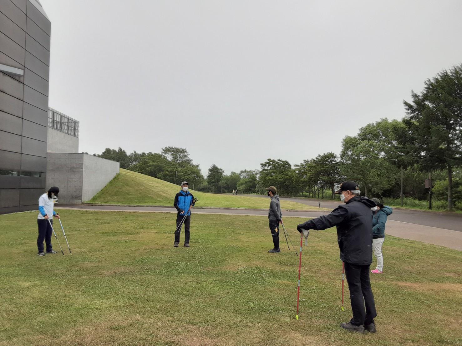 ノルディックウォーキング体験会 @モエレ沼公園_d0198793_01181173.jpg