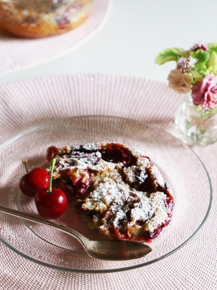 今年はチェリーで焼き菓子ふたつ:ブラウニー&クラフティ_d0159066_16063064.jpg