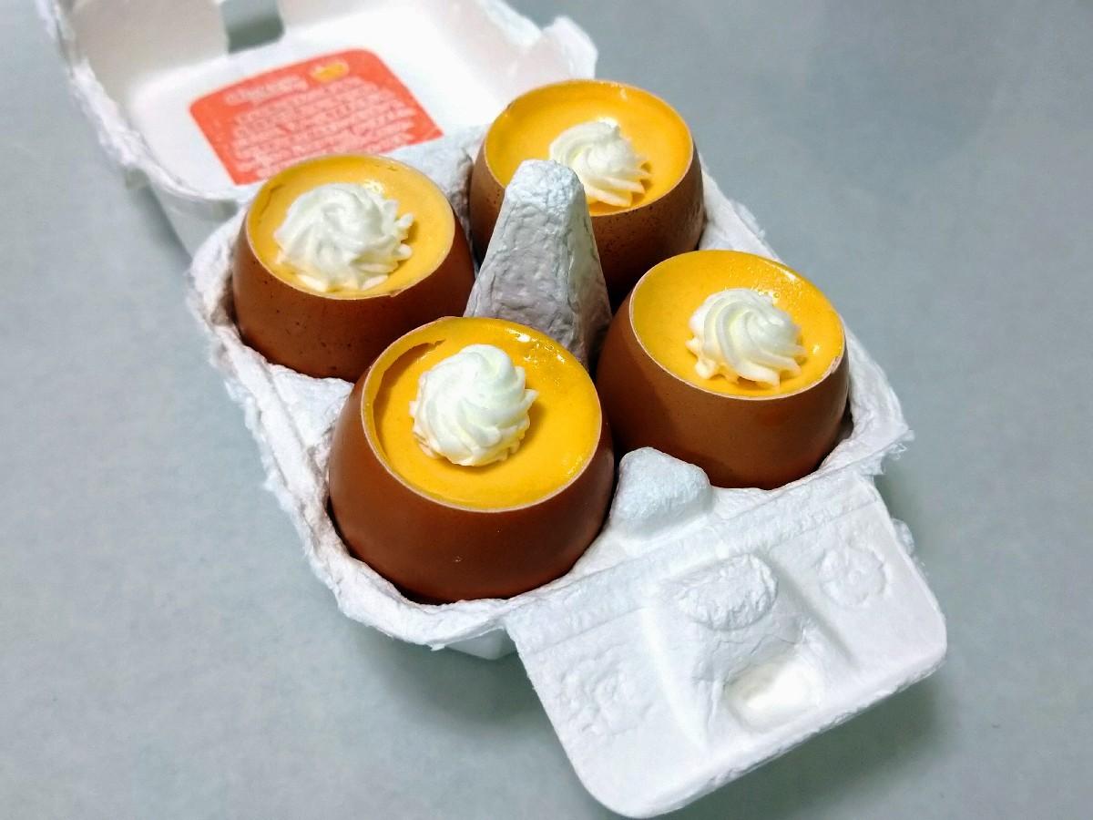 七色うろこ模様&卵のプリン_e0365536_07470620.jpg