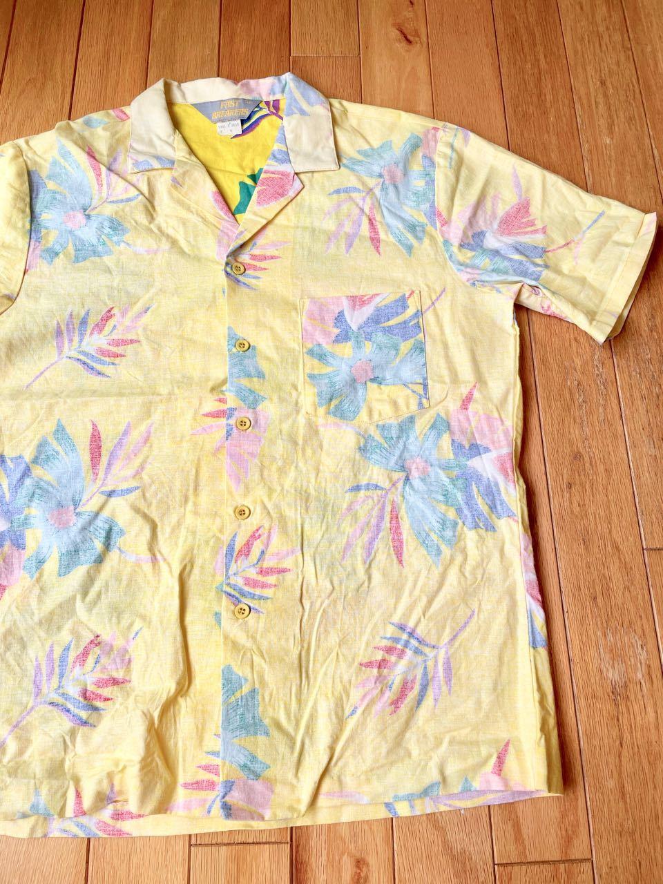 7月17日(土)入荷!80s MADE IN U.S.A Fastbreakers  Hawaiian ハワイアンシャツ!_c0144020_13090874.jpg