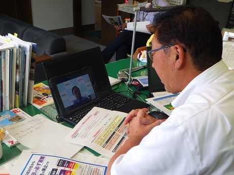 福島気象台長と意見交換_d0003224_11054542.jpg