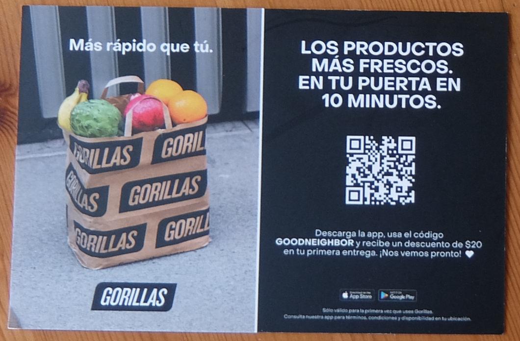 ドイツ生まれの「オンデマンド・グロッサリー・デリバリー」のゴリラス(Gorillas)、NYへ進出_b0007805_03594373.jpg