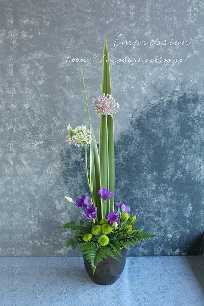定期装花から トルコギキョウ:ブルーフィズ_a0085317_01183839.jpg