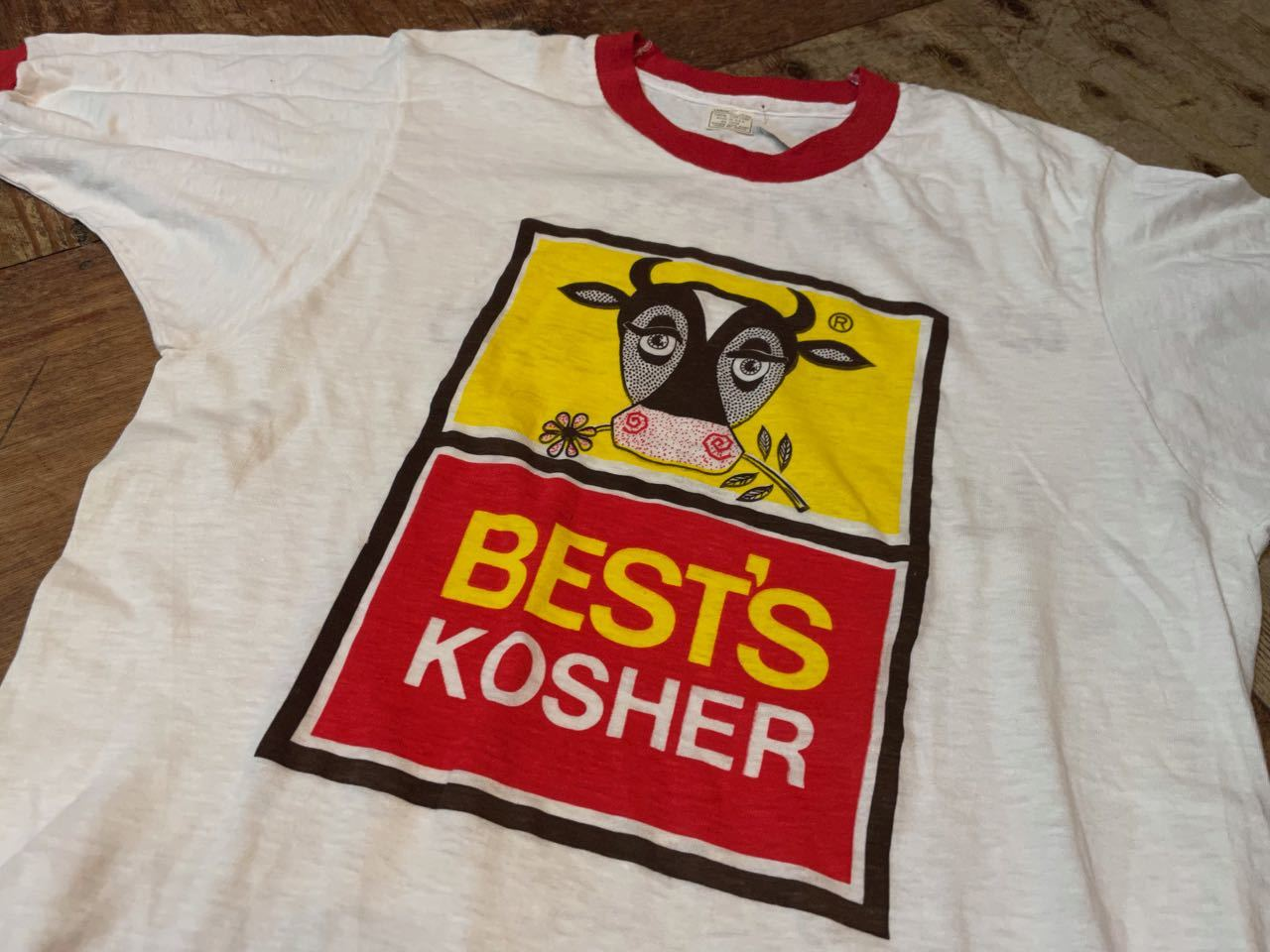 7月19日(月)入荷! デッドストック 70s all cotton  企業物 両面 染み込みプリント ビンテージ リンガーTシャツ!_c0144020_13382839.jpg
