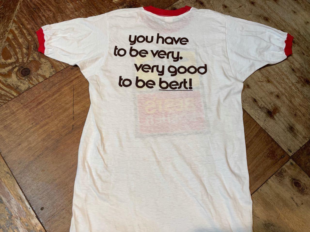 7月19日(月)入荷! デッドストック 70s all cotton  企業物 両面 染み込みプリント ビンテージ リンガーTシャツ!_c0144020_13383090.jpg
