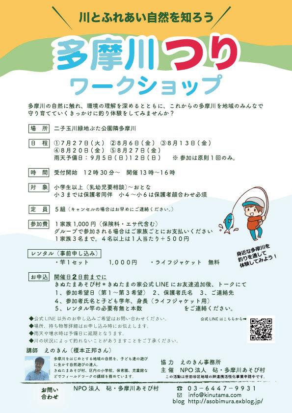 夏休みだ!『多摩川つりワークショップ』開催!_c0120851_22031435.jpg