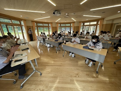 川内小中学園生と意見交換_d0003224_17455427.jpg