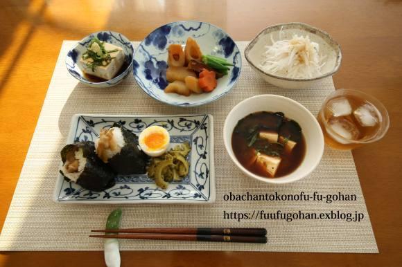 太麺ソース焼きそばDEおうちバル&おにぎり朝御膳_c0326245_11341790.jpg