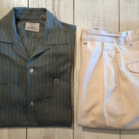 """1960-70s \"""" ARROW - MADE IN U.S.A - \"""" VINTAGE - Ombre STRIPE - L/S BOX-TAIL SHIRTS ._d0172088_18344321.jpg"""