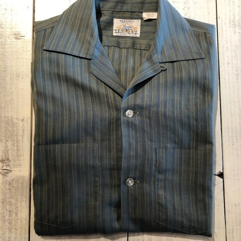 """1960-70s \"""" ARROW - MADE IN U.S.A - \"""" VINTAGE - Ombre STRIPE - L/S BOX-TAIL SHIRTS ._d0172088_18422347.jpg"""