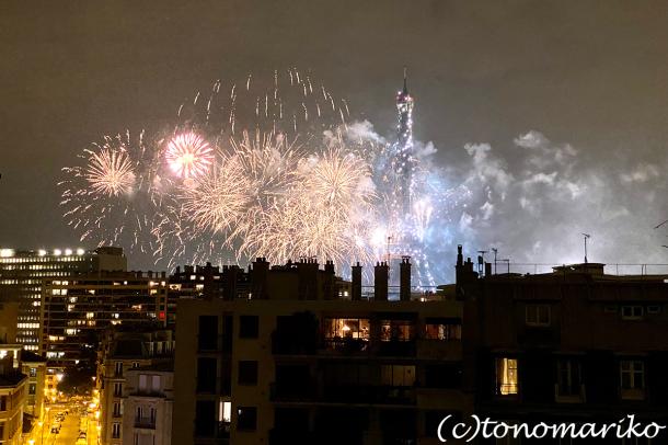 今年の夏も、エッフェル塔の花火を楽しむ_c0024345_19305272.jpg