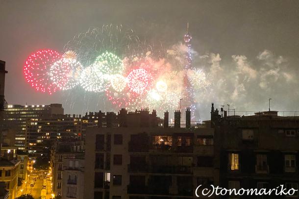 今年の夏も、エッフェル塔の花火を楽しむ_c0024345_19305360.jpg