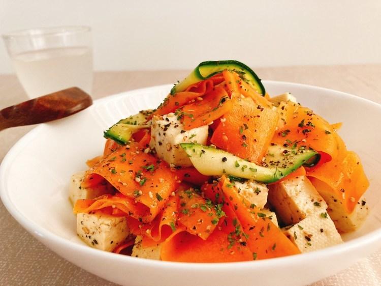 食卓がパッと華やぐヘルシーな副菜!カラフルリボンサラダの作り方_c0405952_10414484.jpg