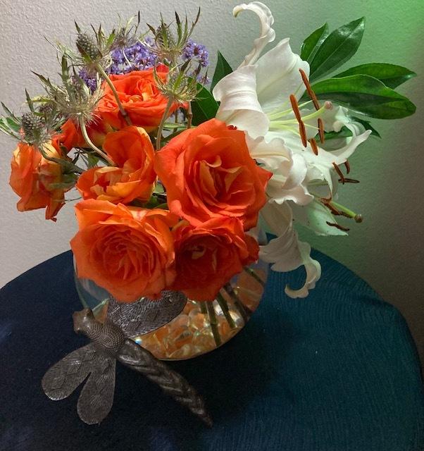 $5のバラのブーケでアレンジメント_e0350971_23201279.jpg