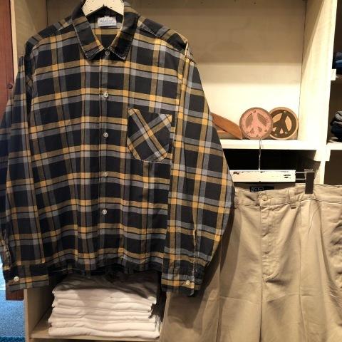"1950s \"" Wrinki - SHED \"" - DAN RIVER Fabric - 100% Pima cotton VINTAGE BOX-TAIL CHECK SHIRTS ※ レアカラー_d0172088_16440798.jpg"