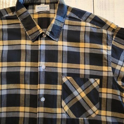 "1950s \"" Wrinki - SHED \"" - DAN RIVER Fabric - 100% Pima cotton VINTAGE BOX-TAIL CHECK SHIRTS ※ レアカラー_d0172088_16462607.jpg"