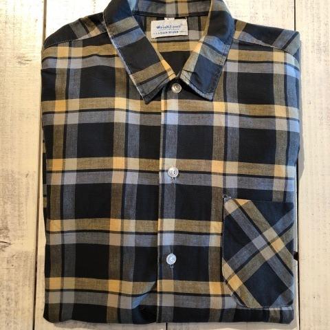 "1950s \"" Wrinki - SHED \"" - DAN RIVER Fabric - 100% Pima cotton VINTAGE BOX-TAIL CHECK SHIRTS ※ レアカラー_d0172088_17331693.jpg"